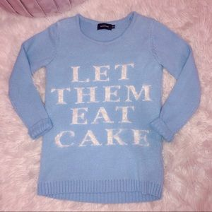 Let them eat cake baby blue sweater